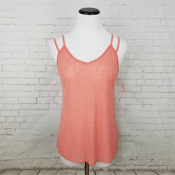 Project Social T Tops - Project Social T Pink Bella Mesh Strappy Tank
